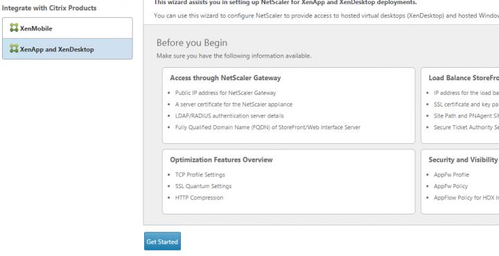 Assistent zur Integration von Citrix XenApp und XenDesktop starten